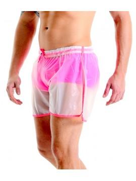 Short Shorts - Matte Plastic Pink | Transparent