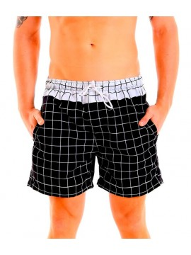 Classic Swimming Trunks + Short Set - Squares