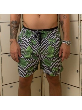 Classic Swimming Trunks Set + Short - Zig Zag Tropical