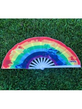LEQUE GRANDE KHEY LGBT ARCO-ÍRIS - BRANCO