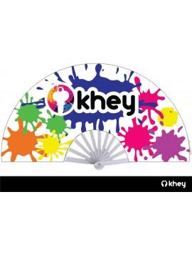 Hand Fan Splash Khey - White