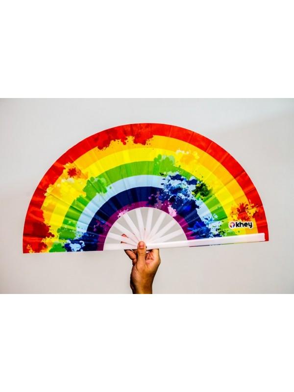 LEQUE PLÁSTICO GRANDE KHEY   LGBT+  ARCO-ÍRIS
