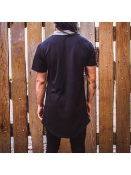 Polo Tee Long Line black