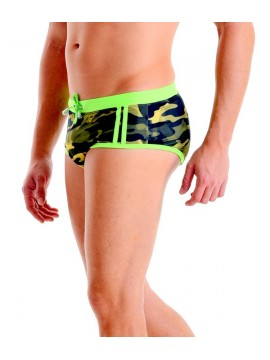 Classic Trunks - Camouflage | Fluorescent Green