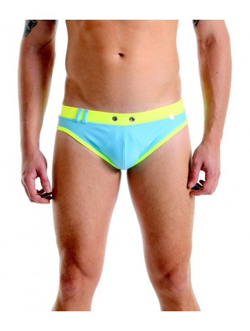 Brief Trunks Cut | With Bulge – Neon Blue