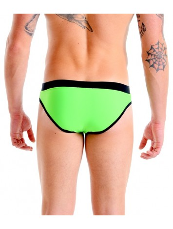 Brief Trunks Cut | With Bulge – Fluorescent Green