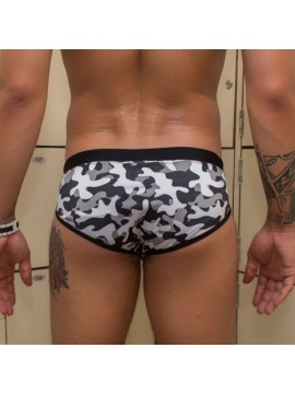 Brief Cut Trunks | With Bulge – Camouflage Black